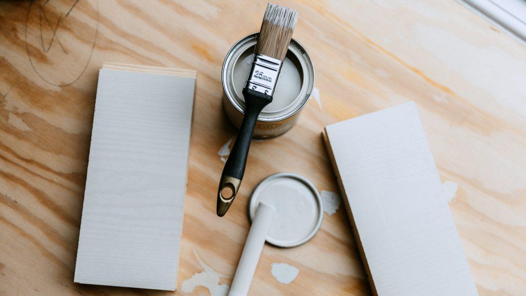 Vit Linoljefärg Skandinaviska Shakerkök