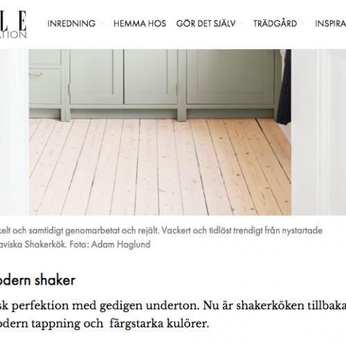 Elle Decoration reportage med Skandinaviska Shakerkök