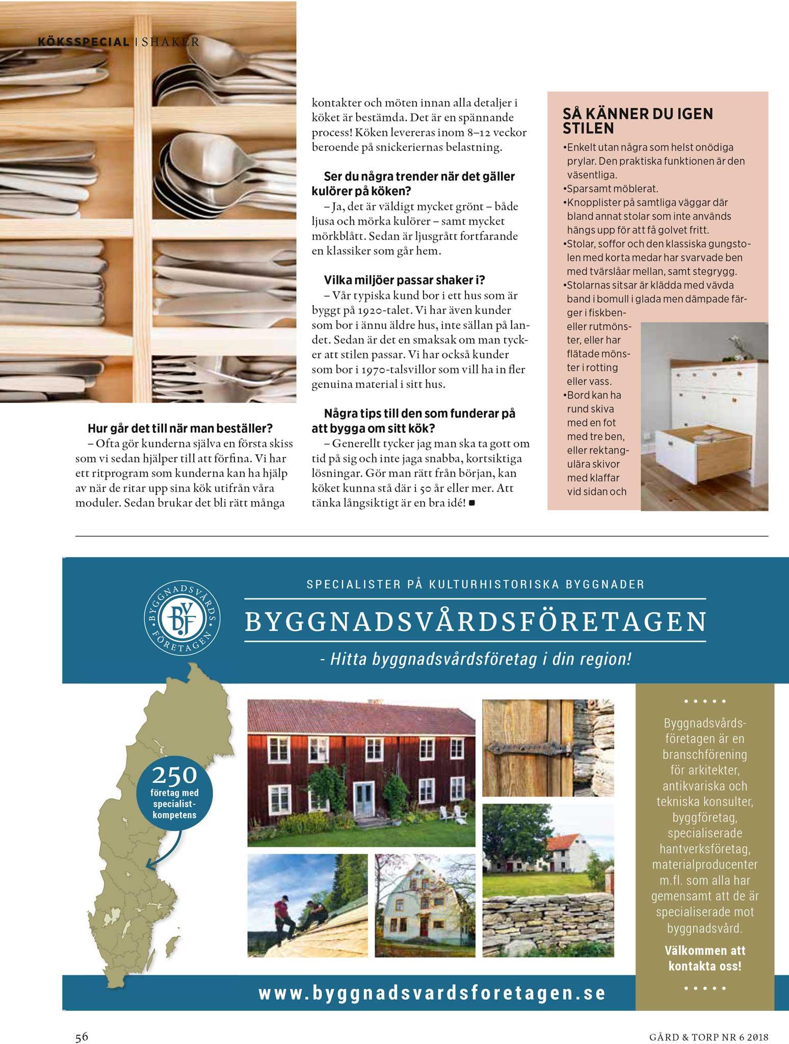 Gård och Torp reportage 3 Skandinaviska Shakerkök