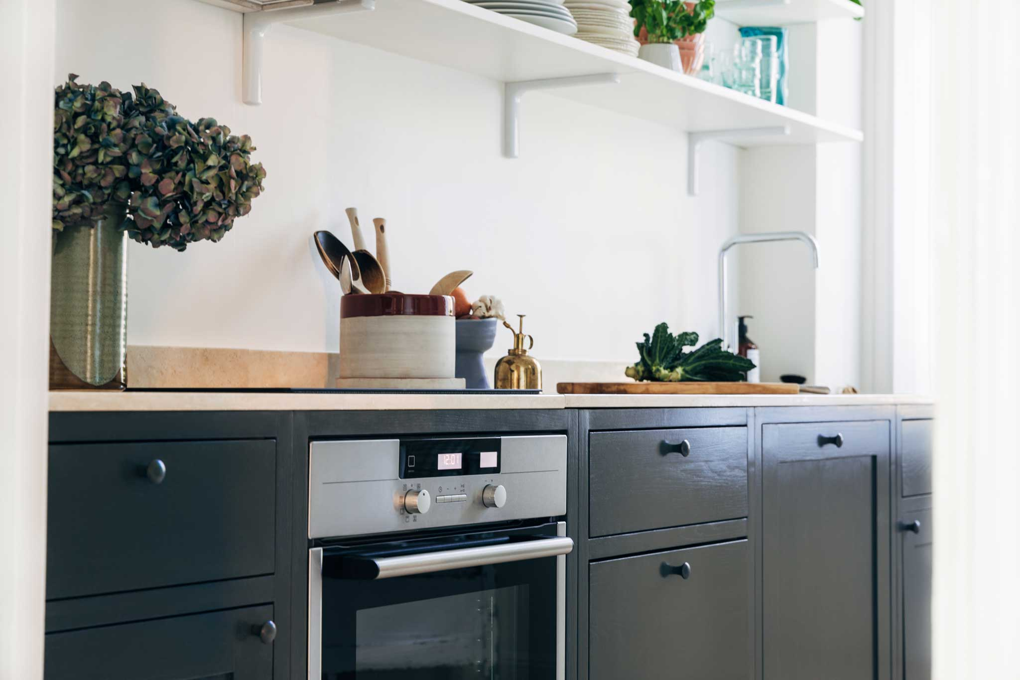 Köksinspiration bänkskiva Blått Kök på Mariatorget från Skandinaviska Shakerkök