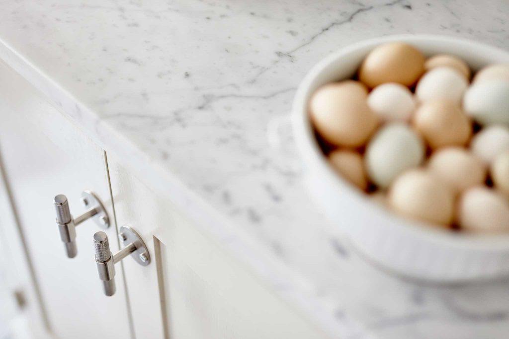 Köksinspiration bänkskiva marmor beige kök från Skandinaviska Shakerkök