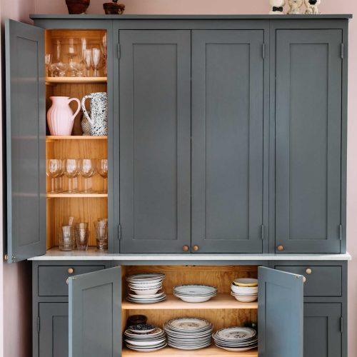 Köksinspiration blågrått kök på Håkanstorpsvägen 2 Skandinaviska Shakerkök