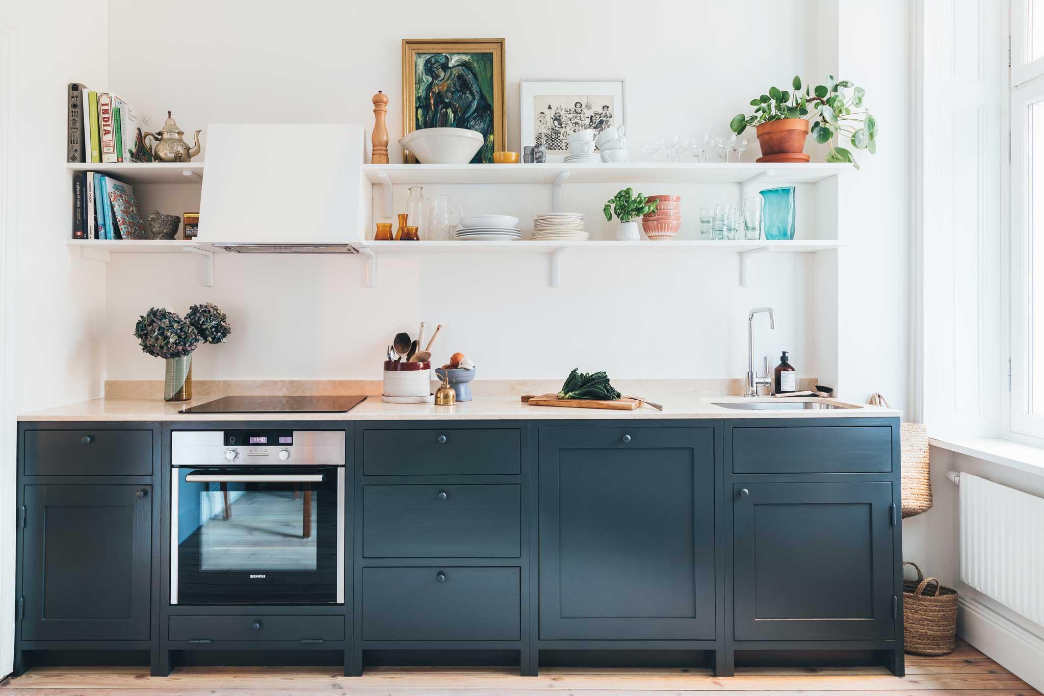 Köksinspiration blått Kök på Mariatorget från Skandinaviska Shakerkök 1