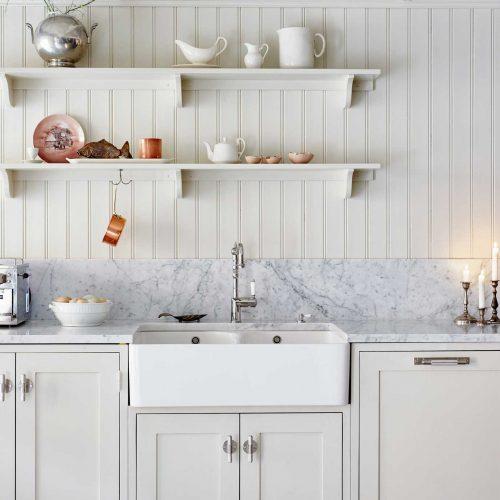 Köksinspiration pärlspont beige kök från Skandinaviska Shakerkök