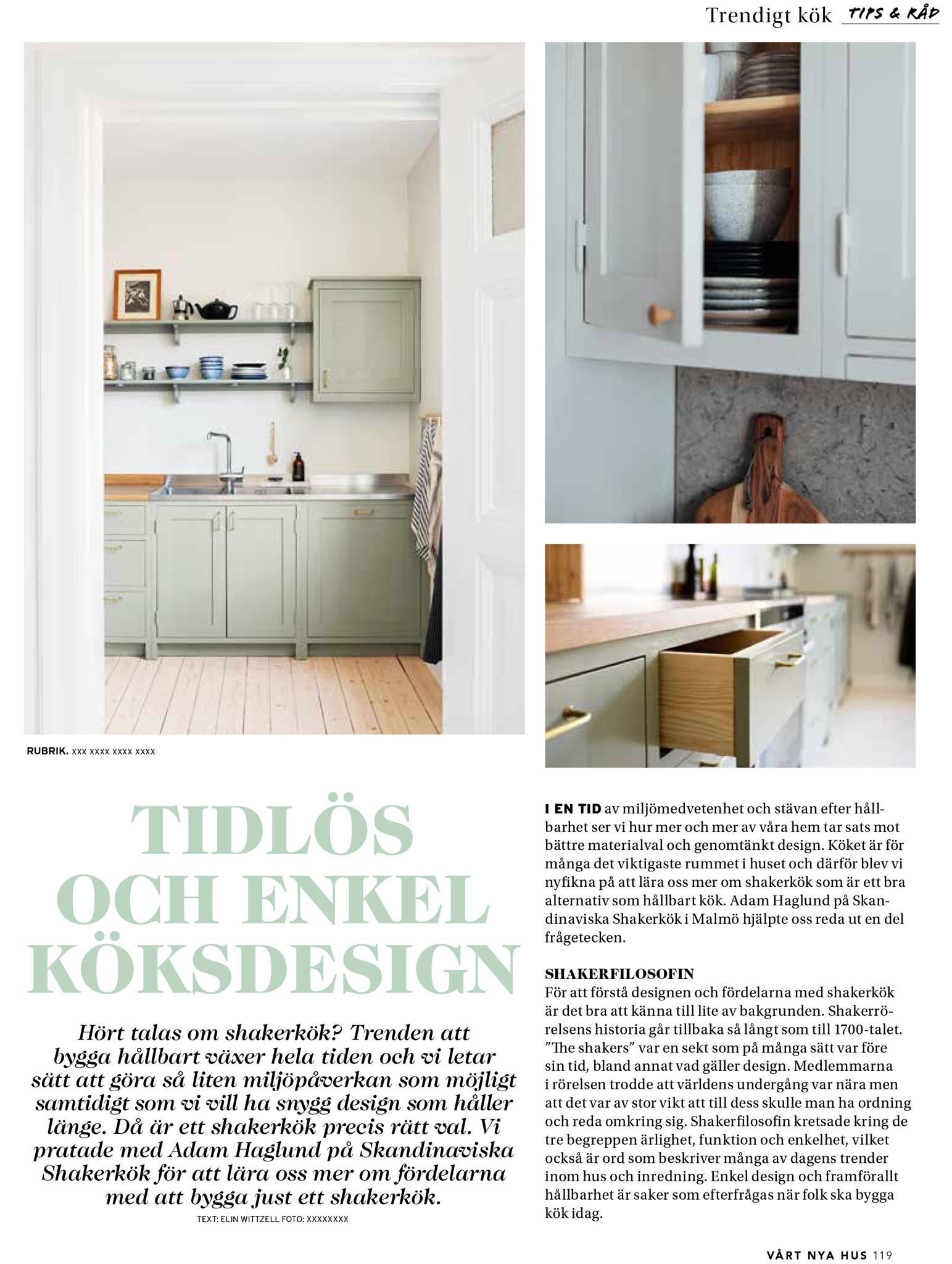 Vårt Nya Hus reportage 1 med Skandinaviska Shakerkök